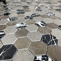 Mosaik Marmor Hexagon Mixed Stone
