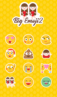 Big Emoji 2.0 TouchPal Sticker - náhled
