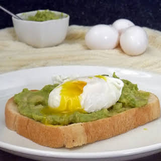 Poached Egg on Toast Breakfast.