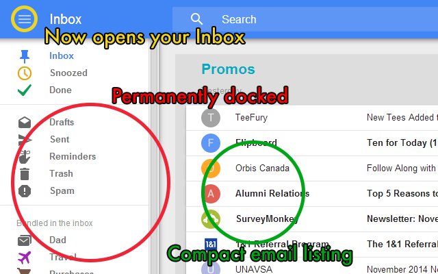 Power Google Inbox Screenshot