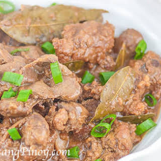 Chicken Liver and Gizzard Adobo.