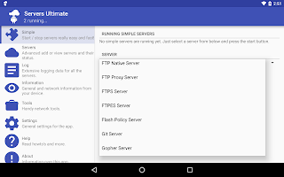 All the apps of the type Web server