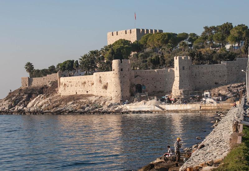 Kusadasi Castle, or the Fortress of Kusadasi, is a 13th century Byzantine castle near the port of  Kuşadası.