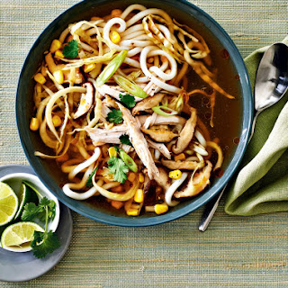Asian-Style Turkey and Cabbage Noodle Soup.