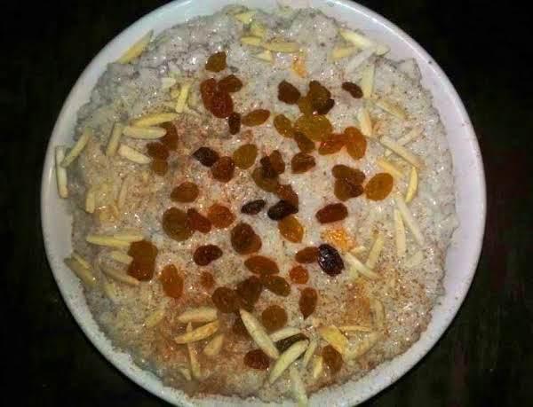 Peaches & Coconut Cream Chai Rice Pudding Recipe