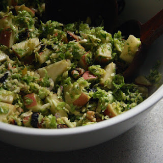 Shaved Brussels Sprouts Salad with Apples, Figs and Walnuts