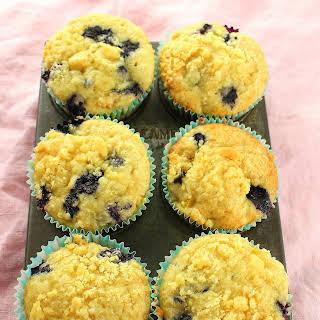 Blueberry-Peach Muffins.