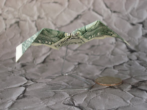 Photo: Model: Dollar Bat;  Creator: Won Park;  Folder: William Sattler;  1 dollar;  Source: moneyfolders_unite Yahoo group http://groups.yahoo.com/group/moneyfolders_unite/