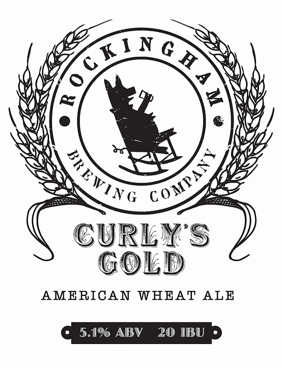 Logo of Rockingham Brewing Company Curly's Gold
