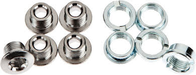 Sugino Single Chainring Bolt Set/5 Chromed Steel alternate image 1
