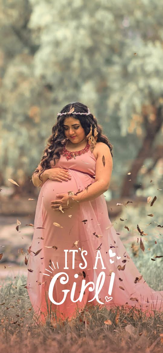 It's a Girl - New Baby Announcement Template