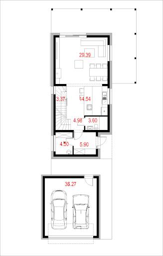 House X12 - Rzut parteru