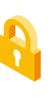 "A yellow padlock icon, representing ""secure your secrets"""