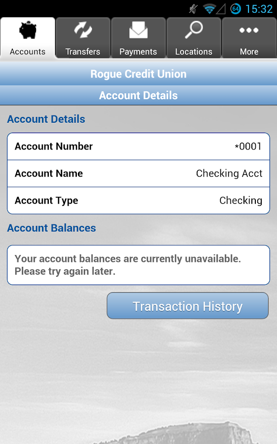 Rogue Credit Union- screenshot