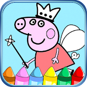 Coloring game for Peppa Piggy.