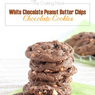 White Chocolate and Reese's Chips Chocolate Cookies
