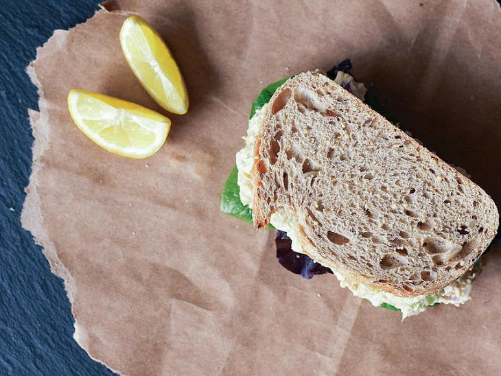 'CHICKPEA of the SEA' SALAD SANDWICH Recipe