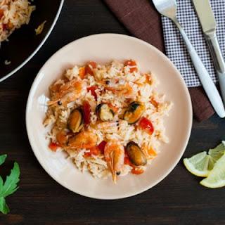 Easy Seafood Paella.