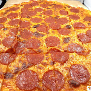 Pizza King Copycat Pepperoni Pizza.