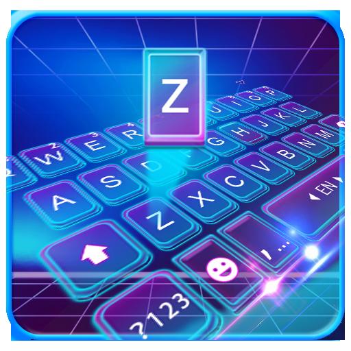 Hologram 3d Tech Keyboard Theme Icon
