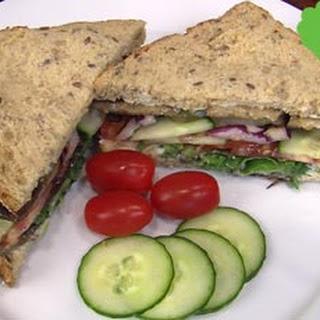 Vegan BBQ Tempeh Sandwich.