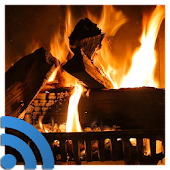 Fireplace on TV via Chromecast