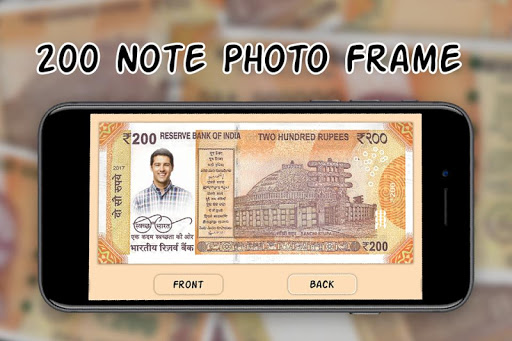 200 Note Photo Frame:New Currency NOTE Photo Frame screenshot 2
