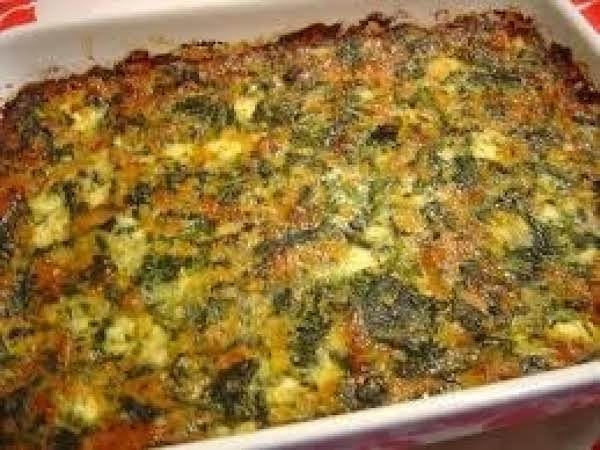 Delicious Spinach-cheese Casserole