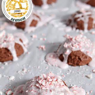 Peppermint Brownie Drop Cookies.