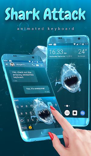 Shark Attack Animated Keyboard + Live Wallpaper screenshot 1