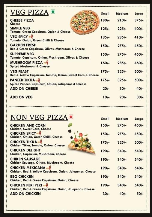 LA Cuisine menu 1