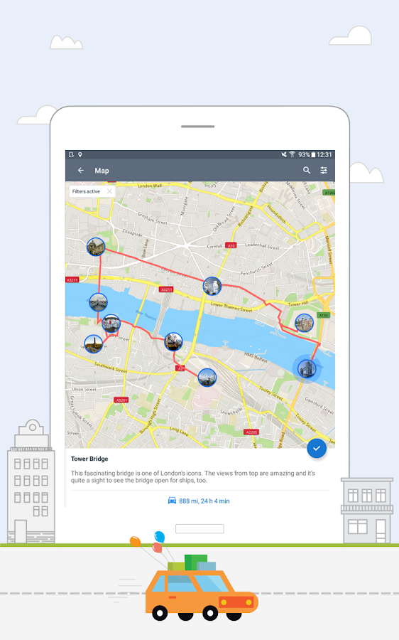 application android guide de voyage
