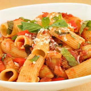 Rigatoni with Eggplant and Basil Recipe