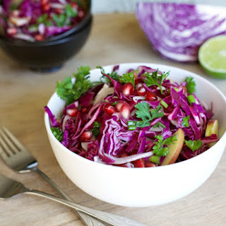Apple and Cabbage Slaw with Pomegranates Recipe