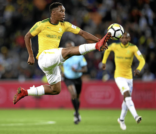 On a mission: Sibusiso Vilakazi says it is imperative that Sundowns keep AS Togo-Port bottom of group C in their African Champions League clash in Lome on Tuesday. Picture: GALLO IMAGES/LEFTY SHIVAMBU