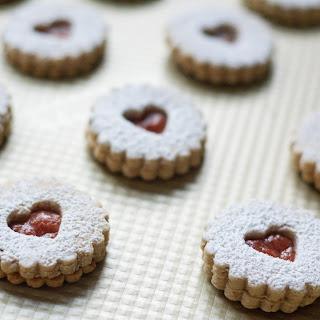 Pecan Linzer Cookies.
