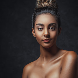 Alexis by Sean Malley - People Portraits of Women ( studio, beautiful, beauty, brunette, skin, model, glamour, eyes )