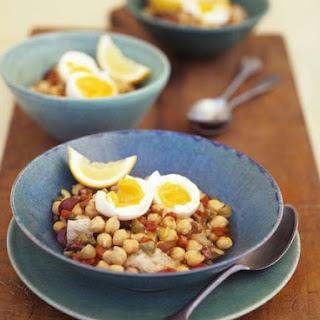 Garbanzo Bean Salad with Egg Halves