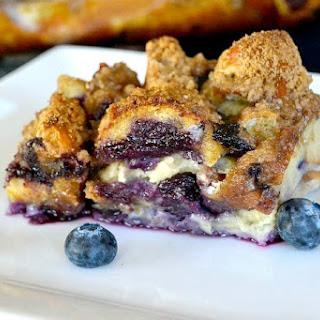 Blueberry Bagel Breakfast Bake
