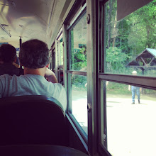 Photo: on the bus back to the visitor's center