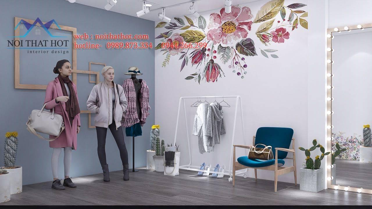 thiết kế phòng livestream quần áo 2