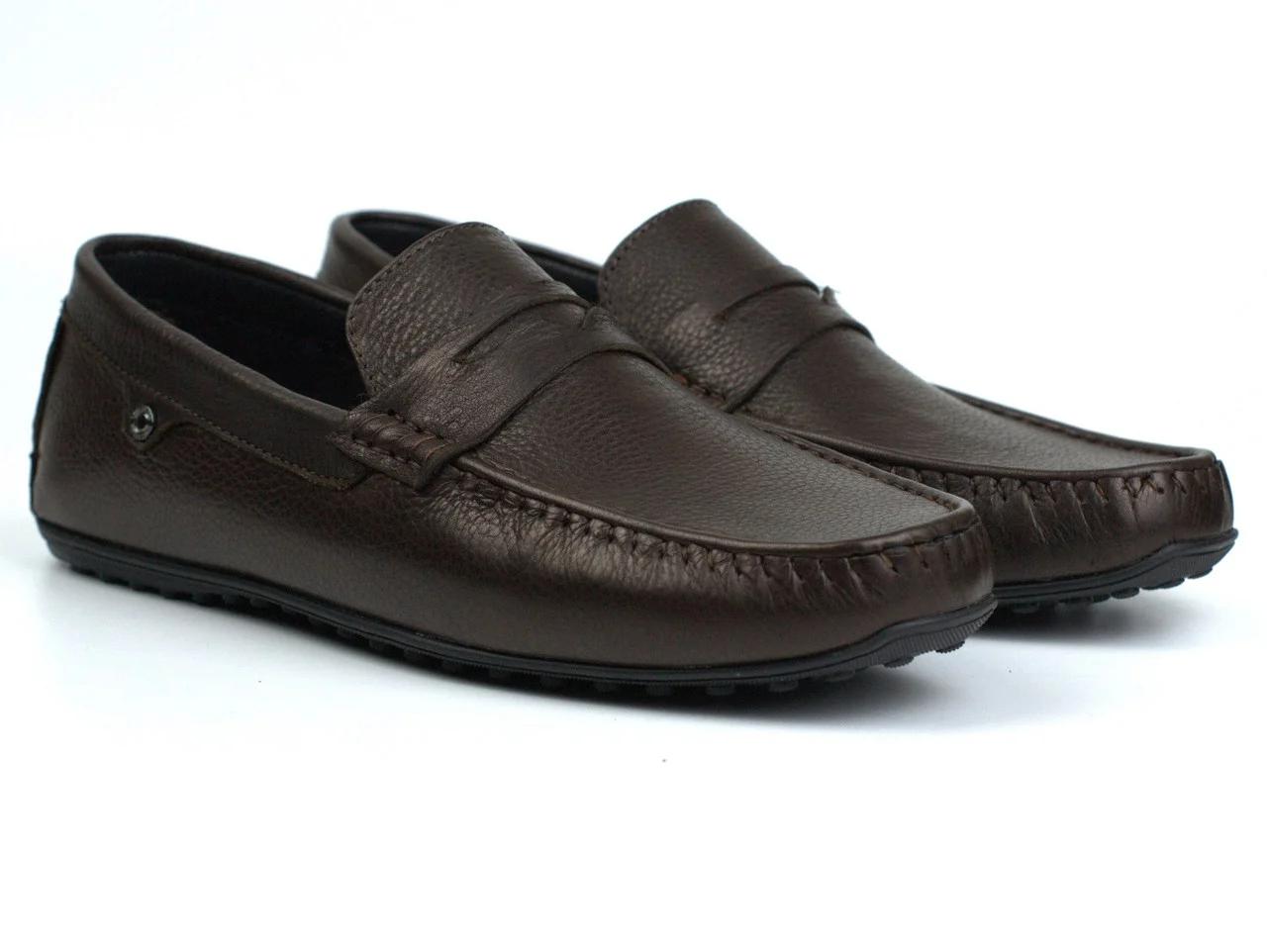 Мокасины коричневые кожаные мужская обувь больших размеров ETHEREAL BS Chelsea Brown Leather by Rosso Avangard Подробнее: