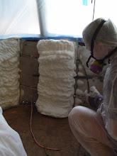 Photo: expanding foam