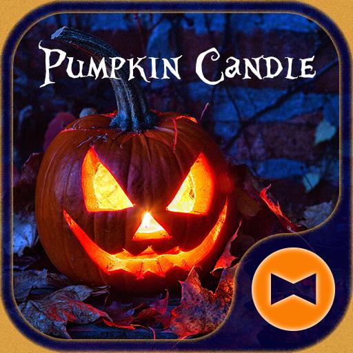 Halloween Wallpaper Pumpkin Candle Theme