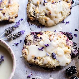 Blackberry Lavender White Chocolate Scones. Recipe