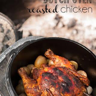 Dutch Oven Roasted Chicken.
