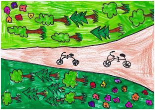 """Photo: praca Mai : """"Jeżdżę rowerem, bo to przyjemnie, zdrowo i ciekawie"""""""
