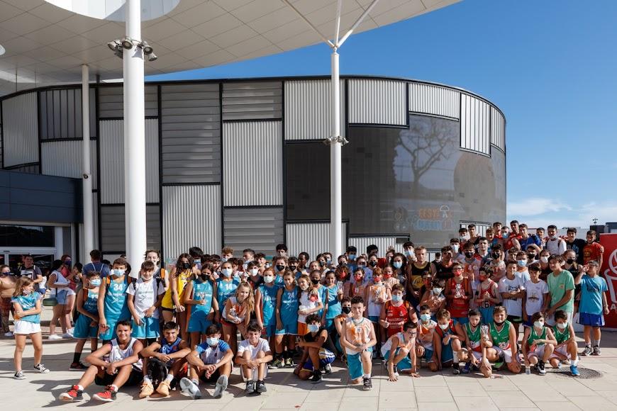 Participantes en el torneo de basket 3x3.