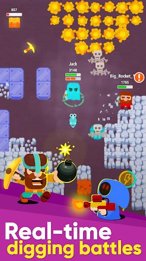 Dig Bombers: battle bomber arena PvP multiplayer APK MOD – Monnaie Illimitées (Astuce) screenshots hack proof 1