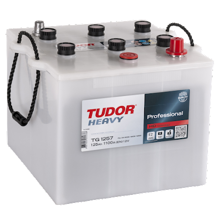 Startbatteri 125Ah Tudor Exide TG1257 LxBxH:286x269x230mm Professional.